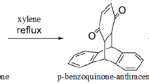 Synthesis dihydroxytriptycene of from anthracene and p-benzoquinone