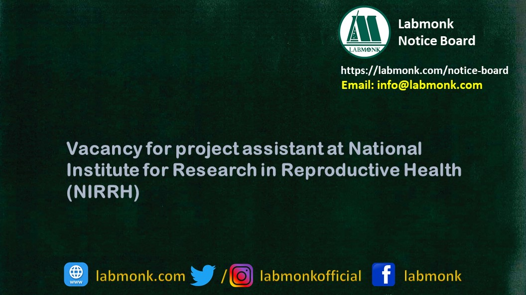 Vacancy for project assistant at National Institute for ...